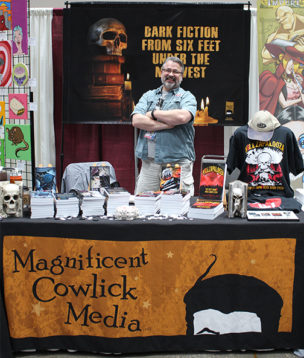 Mark L. Groves with MCM booth
